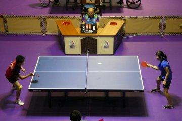 Tim Indonesia turun di tiga nomor beregu tenis meja