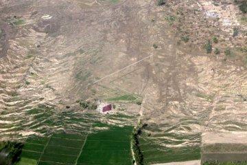 Tanah bergerak akibat gempa Sulteng  7,4 SR