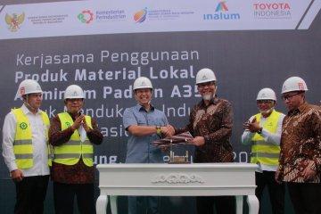 Inalum-TMMIN kerja sama pemanfaatan aluminium alloy untuk velg mobil Toyota