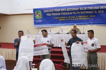 KPU Medan Sosialisasi Pemilu 2019