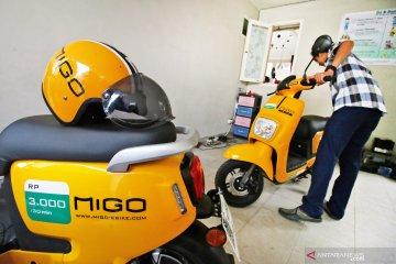 Penyewaan sepeda listrik Migo