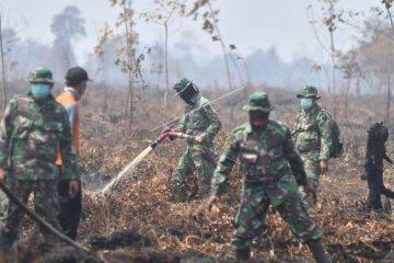 Pendinginan lahan gambut yang terbakar di Muarojambi