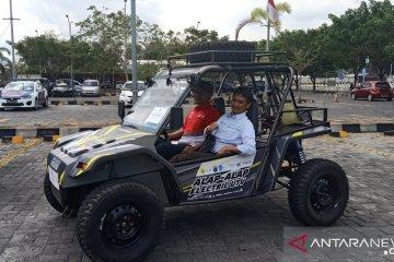 Sedang diuji coba, mobil listrik Blits buatan ITS singgah di Mataram