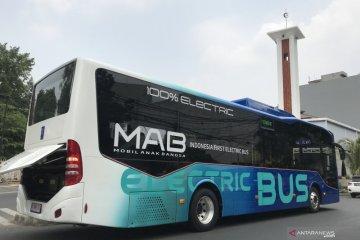 Lolos uji tipe, bus listrik MAB jajal jalanan Jakarta