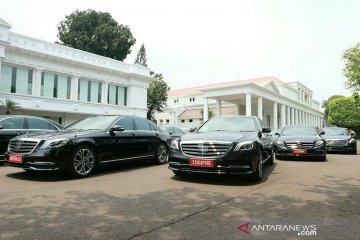 Kendaraan untuk tamu negara saat pelantikan Presiden
