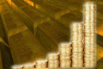 Harga emas naik 16 dolar, setelah dolar AS jatuh dari tertinggi dua bulan