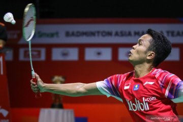 Anthony Ginting lawan Shesar Hiren di final turnamen internal PBSI