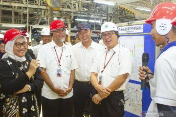Kunjungan Menaker di Pabrik Toyota