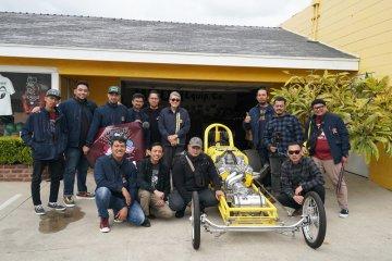 Tim Suryanation Motorland sambangi Mooneyes Company dan Chopper Dave