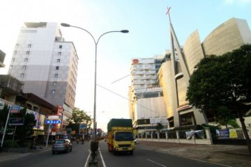 Penutupan jalan di Kota Pontianak