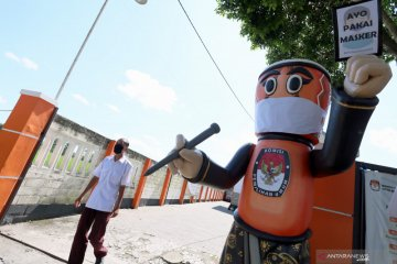 KPU Kota Blitar Kampanye Pemakaian Masker