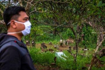 Lahan untuk pemakaman korban corona