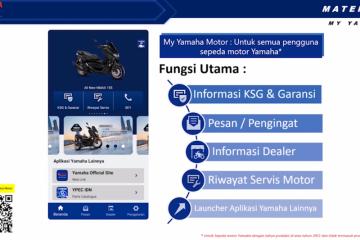 "Tiga layanan utama aplikasi ""My Yamaha"" dan cara pakainya"