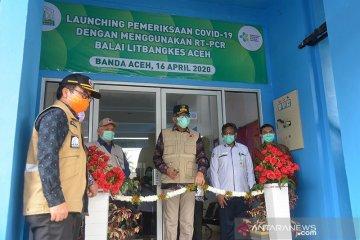 Peresmian alat detiksi virus corona di Aceh