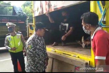 Polda Metro kembali pergoki sejumlah truk angkut pemudik