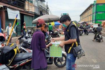 Komunitas Skywave kenalkan pentingnya masker di pasar tradisional
