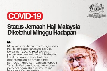 Malaysia tunggu Arab Saudi tentang keberangkatan haji 2020