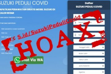 "Suzuki pastikan servis gratis ""Suzuki Peduli COVID"" hoaks"