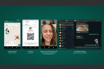 WhatsApp luncurkan fitur stiker, kode QR dan mode gelap