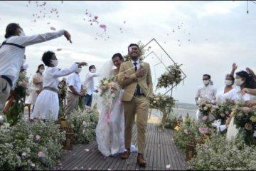 Simulasi protokol kesehatan dalam pernikahan