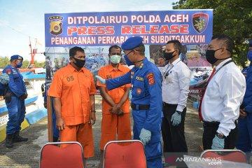 Ditpolairud Polda Aceh tangkap kapal tanpa dokumen