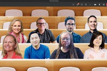 Fitur anyar Microsoft Team pertemukan peserta video call di satu tempat