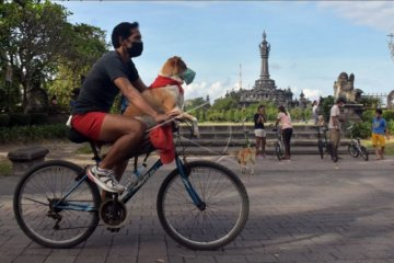 Uji coba hari bebas kendaraan di Denpasar