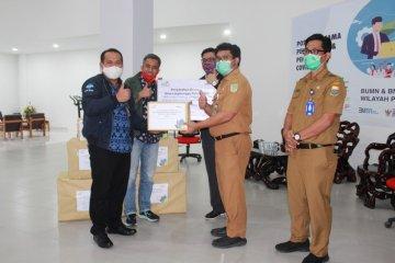 Satgas Bencana BUMN Jambi serahkan  bantuan APD ketiga RSUD