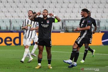 Lyon lolos ke perempat final Liga Champions walau kalah 1-2 dari Juventus