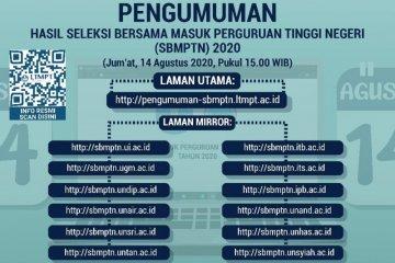 Pengumuman hasil SBMPTN dimajukan pada 14 Agustus