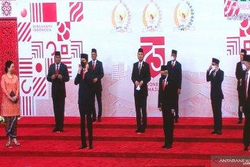 Presiden kembali tiba di Gedung DPR, akan sampaikan pidato RAPBN 2021