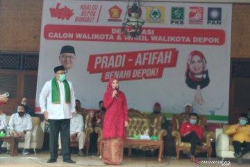 Deklarasi Calon Wali-Wakil Kota Depok Pradi Supriatna-Afifah Alia