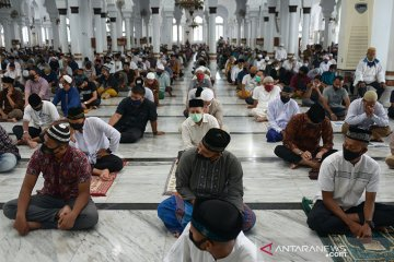 Protokol kesehatan saat shalat Jumat di Masjid Raya