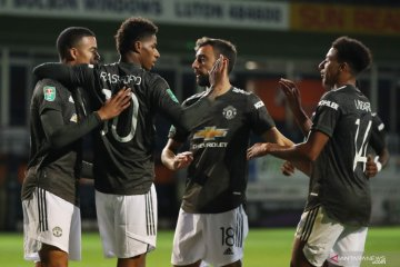 Piala Liga, MU melaju ke putaran empat berkat kemenangan 3-0 atas Luton