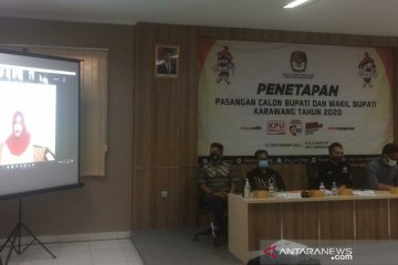 KPU Karawang tetapkan tiga pasangan calon bupati-wabup di Pilkada 2020