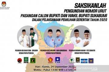 KPU Sukabumi batasi peserta yang hadir pada pengundian nomor urut calon kepala daerah