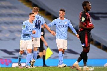Manchester City susah payah kalahkan Bournemouth di putaran ketiga Piala Liga