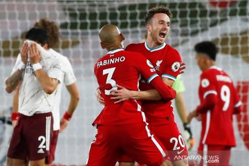 Liverpool bekuk Arsenal 3-1, Diogo Jota cetak gol debut