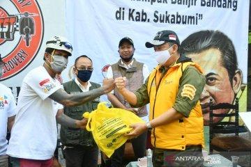 Ketua MPR salurkan bantuan kepada korban banjir bandang di Sukabumi