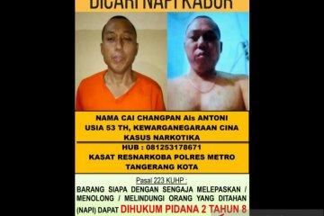 Polisi kejar napi narkoba Cai Cangpan hingga ke hutan di Bogor