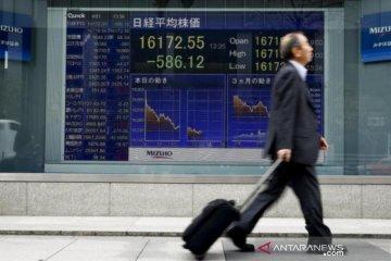 Saham Jepang ditutup nyaris datar, Nikkei turun 7,77 poin