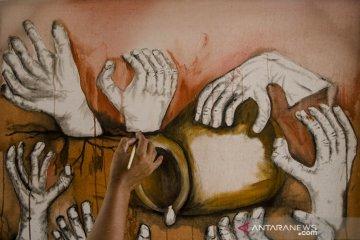 Aksi melukis bersama di Cimahi