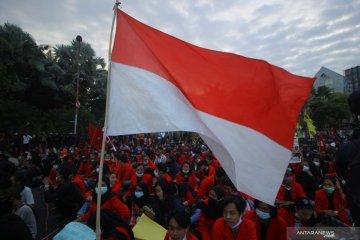 Demonstrasi Tolak UU Cipta Kerja di Surabaya