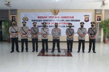 Kapolda Kalbar pimpin serah terima jabatan empat Kapolres