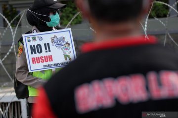 Imbauan polisi saat aksi tolak UU Cipta Kerja