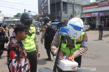 Operasi Zebra di Sukabumi tilang 220 pengendara