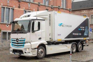 Mercedes-Benz uji coba truk listrik di perusahaan logistik Belgia