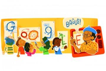 Google Doodle kenang pelukis Tino Sidin