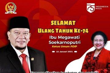 Ketua DPD RI sampaikan doa di HUT Megawati Soekarnoputri