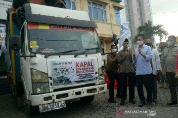 15 ton logistik bantuan dikirim ACT Sumsel ke Sulbar dan Kalsel
